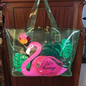 Betsey Johnson Let's Flamingo Tote